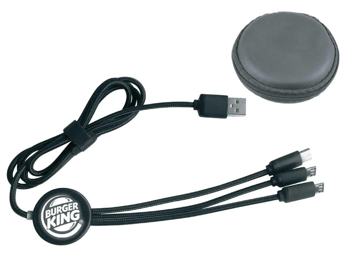1A USB Giriş / Çıkış Micro IOS, Type -C Çıkış Beyaz Led Işıkılı Baskı